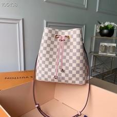 Louis Vuitton Damier Azur Canvas NeoNoe Bucket Bag N40152 Eau de Rose 2019