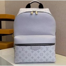 Louis Vuitton Monogram Canvas and Taiga Leather Discovery Backpack PM Bag M30232 White 2019