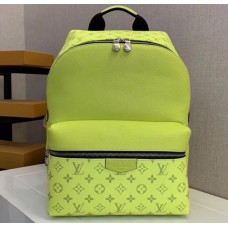 Louis Vuitton Monogram Canvas and Taiga Leather Discovery Backpack PM Bag M30228 Yellow 2019