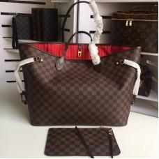 Louis Vuittom damier ebene canvas Neverfull GM Bag N41357