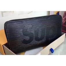 Louis Vuitton Supreme X Epi Zippy Wallet Black 2017