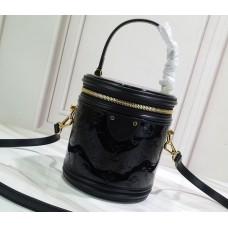 Louis Vuitton Monogram Vernis Leather Canvas Cannes Beauty Case Bucket Bag M53997 Noir 2019