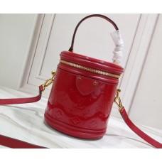 Louis Vuitton Monogram Vernis Leather Canvas Cannes Beauty Case Bucket Bag M53998 Rouge 2019