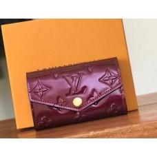 Louis Vuitton Monogram Vernis Leather 6 Key Holder M61223 Fuchsia