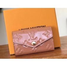Louis Vuitton Monogram Vernis Leather 6 Key Holder M61223 Pink