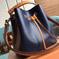 Louis Vuitton Epi Leather NeoNoe BB Bucket Bag M53610 Indigo