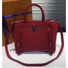 Louis Vuitton Calfskin Leather Lockmeto Epsom M54570 Rubis 2017