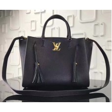 Louis Vuitton Calfskin Leather Lockmeto Epsom M54569 Noir 2017