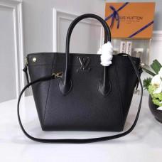 Louis Vuitton Freedom Grained Calfkin Leather Tote Handbag M54843 Noir 2017