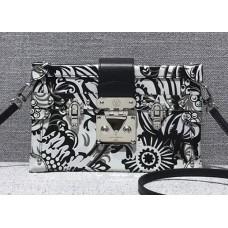 Louis Vuitton Petite Malle Bag M54918 Black/White 2017