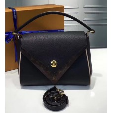 Louis Vuitton Grained Calfskin Double V Handbag M54439 Noir 2017