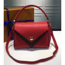 Louis Vuitton Grained Calfskin Double V Handbag M54624 Rubis 2017