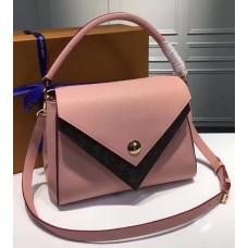 Louis Vuitton Grained Calfskin Double V Handbag M54440 Rose Poudre 2017