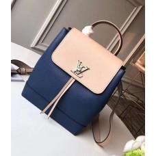 Louis Vuitton Lockme Backpack Bag M41817 Denim Blue 2018