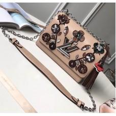 Louis Vuitton EPI Twist MM Bag Flower Embellished 2018