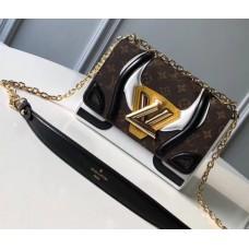 Louis Vuitton Monogram Canvas Twist MM Bag White/Patent Black/Yellow 2018