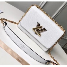 Louis Vuitton EPI Twist MM Bag White 2018