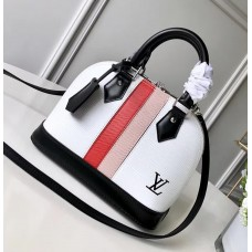 Louis Vuitton Alma BB Handbag M51963 White Epi Leather 2018