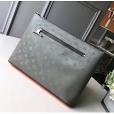 Louis Vuitton Men's Pochette Cosmos Clutch M63240 Monogram Titanium 2018
