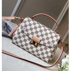 Louis Vuitton Croisette Handbag N41581 Damier Azur Canvas 2017