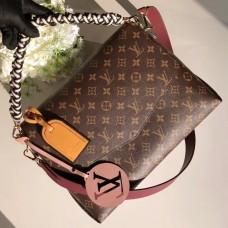 Louis Vuitton Beaubourg MM Handbag in Monogram Canvas M43953 White 2018