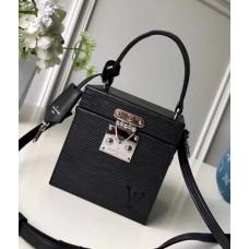 Louis Vuitton Bleecker Box Top Handle Bag in Epi Leather M52466 Black 2018