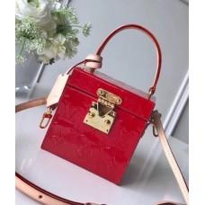 Louis Vuitton Bleecker Box Top Handle Bag in Monogram Vernis Leather M52464 Red 2018