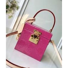 Louis Vuitton Bleecker Box Top Handle Bag in Monogram Vernis Leather M52464 Pink 2018