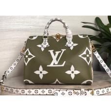 Louis Vuitton Monogram Canvas Speedy 30 Bandouliere Bag M44572 Green/White/Apricot 2019