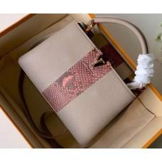 Louis Vuitton Capucines BB Bag Central Stripe Python N90199 Galet