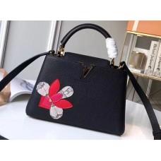 Louis Vuitton Capucines BB Bag Iris Blossom M54697 Black