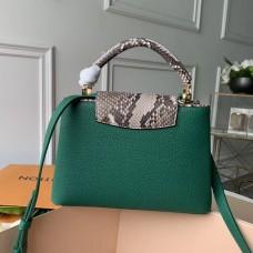 Louis Vuitton Capucines BB Bag Python Handle and Flap N95384 Louxor Green