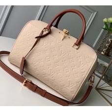 Louis Vuitton Monogram Empreinte Speedy Bandouliere 25 Bag M44736 Creme Caramel 2019