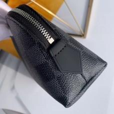 Louis Vuitton Cosmetic Pouch PM Bag Damier Graphite Canvas