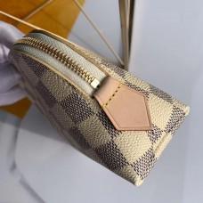 Louis Vuitton Cosmetic Pouch PM Bag Damier Azur Canvas N60024