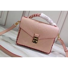Louis Vuitton Braided Handle Monogram Empreinte Pochette Metis Bag Pink 2019