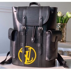 Louis Vuitton Epi Leather Christopher PM Backpack Bag M55138 Black with LV Logo