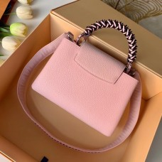 Louis Vuitton Capucines BB Bag Braided Handle and Strap M55236 Pink