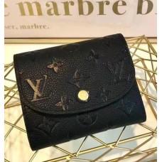 Louis Vuitton Ariane Monogram Empreinte Leather Short Wallet M64148 Noir