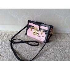 Louis Vuitton Petite Malle Bag vernis pink