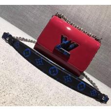 Louis Vuitton Monogram Vernis Twist PM Bag M54241 Fuchsia 2017