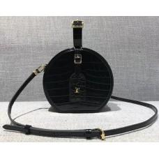 Louis Vuitton Croco Pattern Petite Boite Chapeau Bag Black 2018