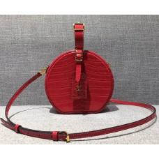 Louis Vuitton Croco Pattern Petite Boite Chapeau Bag Red 2018