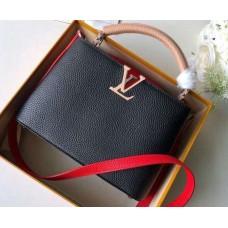 Louis Vuitton Capucines BB Bag Colorblock Black/Apricot/Red