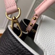 Louis Vuitton Capucines BB Bag Colorblock Black/White/Pink