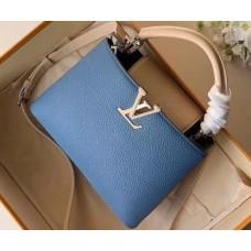 Louis Vuitton Capucines BB Bag Colorblock M52986 Bleu Naval