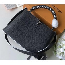 Louis Vuitton Capucines BB Bag Braided Threads Handle M52384 Black