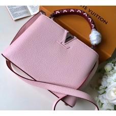 Louis Vuitton Capucines BB Bag Braided Threads Handle M52384 Bubble Gum