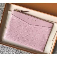 Louis Vuitton Daily Pouch in Monogram Empreinte Leather M62938 Pink