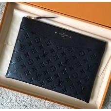 Louis Vuitton Daily Pouch in Monogram Empreinte Leather M62937 Black